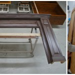 Stained Oak Mantle Refinished with Semi Gloss oil & Brushed Glaze